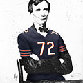 Abe Lincoln In A William Perry Chicago Bears Jersey by Roly O