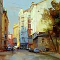 About The Arbat. Plotnikov Lane. by Alexey Shalaev