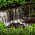 Above The Sgwd Isaf Clun-gwyn Waterfall by Leighton Collins