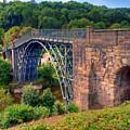 Abraham Derbys Iron Bridge Rural Landscape by Chris Smith