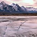 Abraham Lake Ice Sheets by Adam Jewell