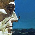 Abraham Lincoln's Nose On The Mount Rushmore National Memorial  by English School