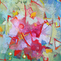 Abstract 2 With Inscribed Red by Susanne Clark