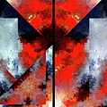 Abstract 475 476 Diptych by Rafael Salazar
