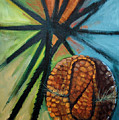 Abstract And The Armadillo by Suzanne McKee