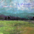 Abstract Aqua Sky Landscape by Jean Plout