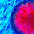 Abstract Art Combination - The Pink Martian Crater, Ca 2017, Byy Adam Asar by Adam Asar
