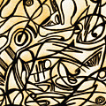 Abstract Art Gold 2 by Sumit Mehndiratta