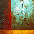 Abstract Art Original Poppy Flower Painting Subtle Changes By Madart by Megan Duncanson