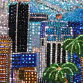 Los Angeles. Rhinestone Mosaic With Beadwork by Sofia Metal Queen