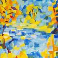 Abstract Autumn Landscape by Olga Malamud-Pavlovich