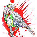 Abstract Bird 002 by Dwayne  Hamilton