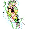 Abstract Bird 01 by Dwayne  Hamilton