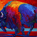 Abstract Bison by Marion Rose