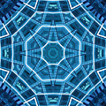 Abstract Blue 18 by David Wagner