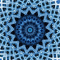Abstract Blue 30 by David Wagner