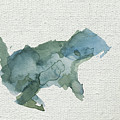 Abstract Blue Squirrel by Stephanie Peters