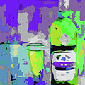 Abstract Bottle Absinthe Modern Art by Ginette Callaway