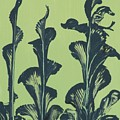Abstract Callas On Green by Jean Clarke