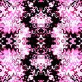 Pink And Black Design  by Elizabeth Abbott