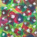 Abstract Circles With Flowers by Masuma Pardiwala
