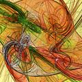 Abstract Color Swirls by Deborah Benoit
