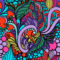 Abstract Colorful Floral Design by Long Shot