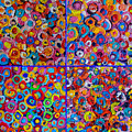Abstract Colorful Flowers 4 by Ana Maria Edulescu