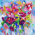 Abstract Colorful Flowers by OLena Art Brand