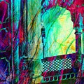 Abstract Colorful Window Balcony Exotic Travel India Rajasthan 1a by Sue Jacobi