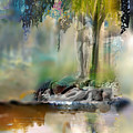 Abstract Contemporary Art Titled Humanity And Natures Gift By Todd Krasovetz  by Todd Krasovetz