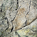 Abstract Cracks On A Granite Block Of Stone by Jozef Jankola