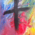 Abstract Cross by Erin  Stefanak