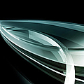 Abstract Curved Lines, Leaf Shape by Ralf Hiemisch