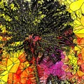 Abstract Dandelion Stained Glass by Mo Barton