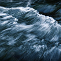 Abstract Dark Waves On The River by Jozef Jankola