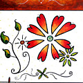Abstract Decorative Greeting Card Art Thank You By Madart by Megan Duncanson
