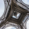 Abstract Eiffel Tower Looking Up 2 by Mike Reid