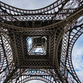 Abstract Eiffel Tower Looking Up by Mike Reid