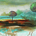 Abstract Fantasy Landscape by Jean Plout