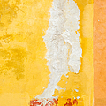 Abstract. Flaking Paint On Stucco. by Rob Huntley
