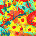 Abstract Floral Fantasy Panel A by Amy Vangsgard