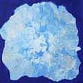 Abstract Flower In Blue by Deborah Boyd