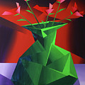 Abstract Flower Vase Prism Acrylic Painting by Mark Webster