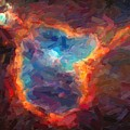 Abstract Galactic Nebula With Cosmic Cloud 4 by Asar Studios