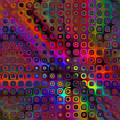 Abstract Geometric Rainbow Circles by Ruth Moratz