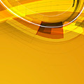 Abstract Golden Arcs And Lines by Elaine Plesser
