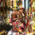 Abstract Graffitis by Martine Affre Eisenlohr