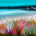 Abstract Grass Series 17 by ElsaDe Paintings