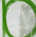 Abstract Green Circle 2- Art By Linda Woods by Linda Woods
